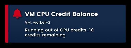 VM CPU Credit Balance