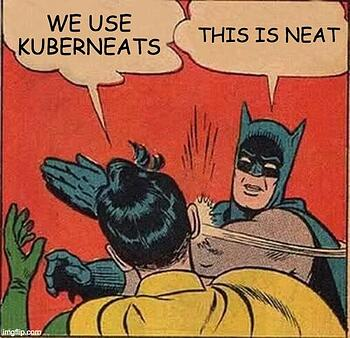 Batman's not on board with kuberneats