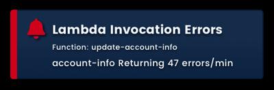 Sample Blue Matador Lambda invocation error alert