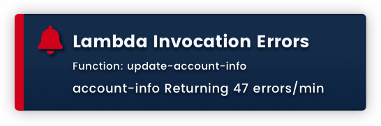 Alert: Lambda Invocation Errors