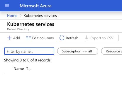 Adding a new Azure Kubernetes Service cluster