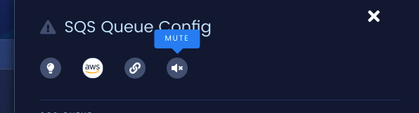 Click the Mute icon at the top of the details pane to open the mute modal