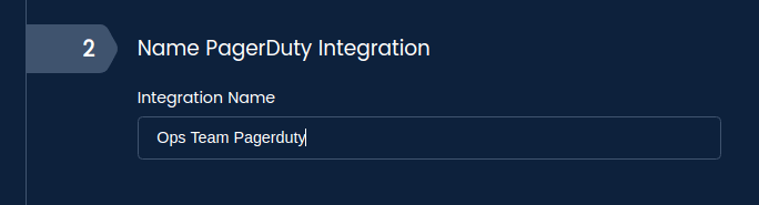 Set the display name for your PagerDuty integration.